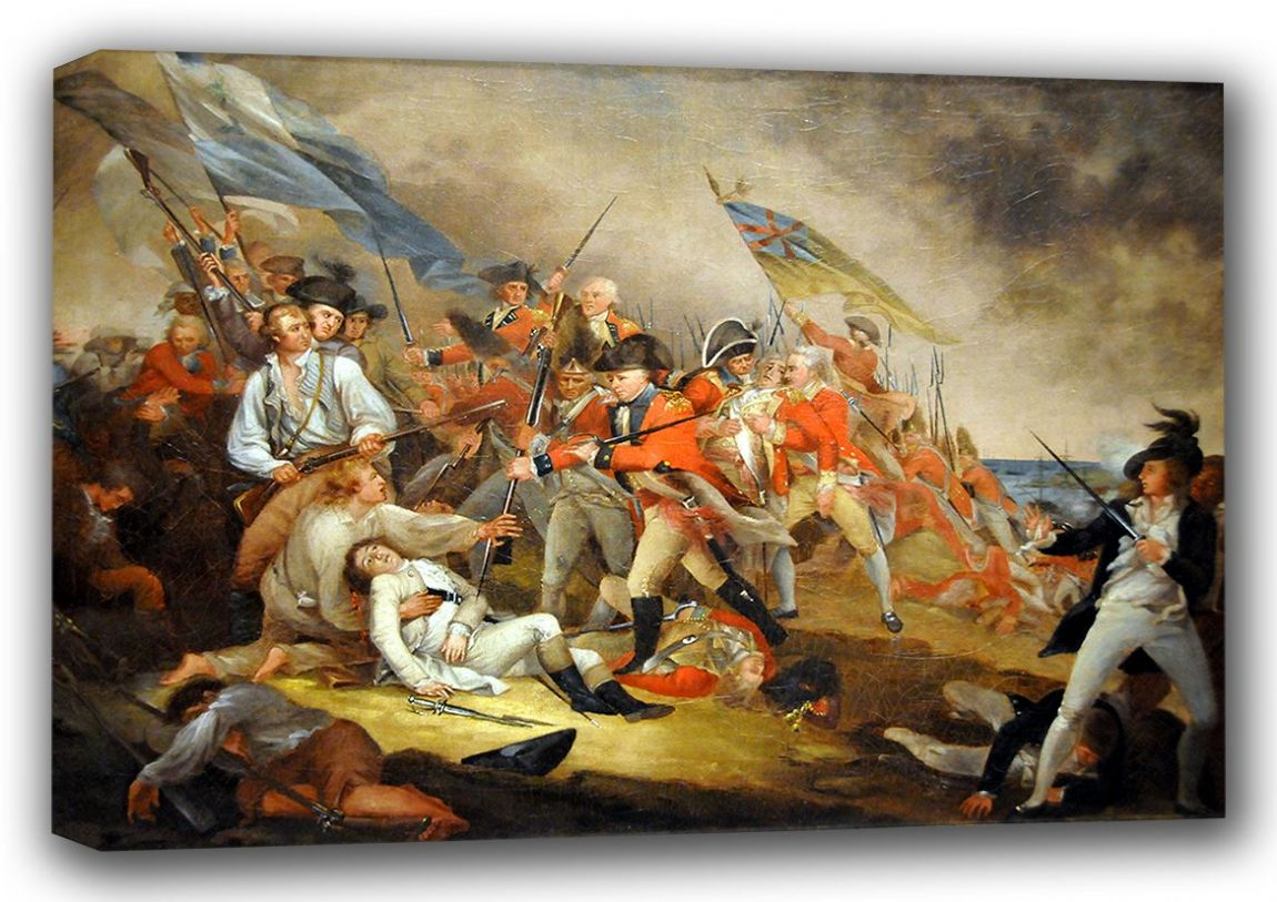 Trumbull, John: The Death of General Warren at the Battle of Bunker's Hill. Fine Art Canvas. Sizes: A4/A3/A2/A1 (001200)